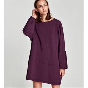 Nwt Zara Oversized Dress w/ Wide Cuffs Sleeves